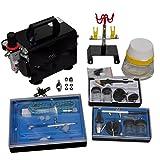 Kit Kompressor Airbrush Professionelles 3Airbrushpistolen und Leistung: 1/6HP