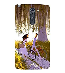 Vizagbeats bicycling lovers Back Case Cover for LG G3 Stylus::LG G3 Stylus D690N::LG G3 Stylus D690