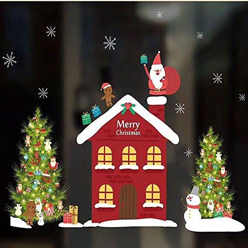 Producto navideño, JiaMeng Navidad Sala de Estar Navidad Papá Noel muñeco de Nieve Elk Pegatinas de Pared decoración de la Ventana