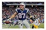 Rob Gronkowski - New England Patriots Signiert Autogramme 21cm x 29.7cm Plakat Foto