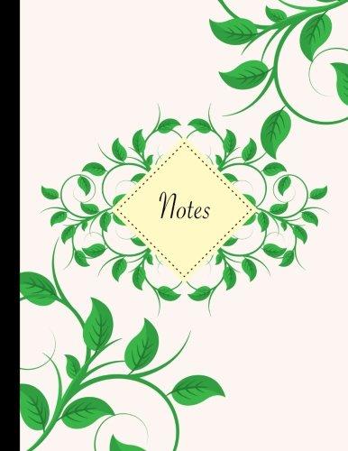 Carnet de notes A4 lign: Carnet de notes original & fantaisie, taille de jumbo, bouquet de feuilles, belle papeterie rtro et originale