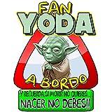Pegatina Star Wars fan Yoda a bordo