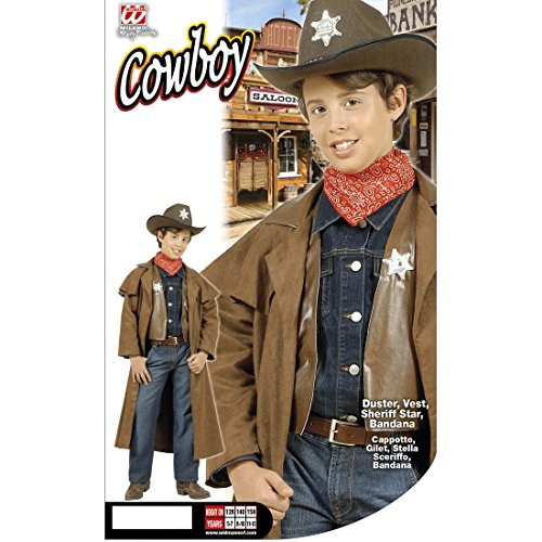 Kinder Cowboykostüm Wild West Sheriffkostüm 158 cm 11-13 Jahre Cowboy Westernkostüm Sheriff Kostüm Karneval Kostüme Jungen Wilder Westen Revolverheld Faschingskostüm Western Kopfgeldjäger Kinderkostüm (Wilder Westen Revolverheld Kostüm)