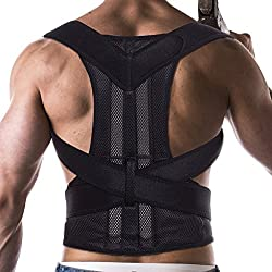 FITTOO Verstellbarer Geradehalter Rücken Bandage zur Haltungskorrektur bei Rücken Schulterschmerzen Damen und Herren L