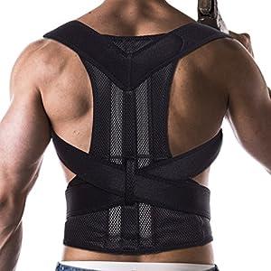 FITTOO Verstellbarer Haltungskorrektur Geradehalter Rücken Bandage zur bei Rücken Schulterschmerzen Haltungstrainer Gesunde Haltung für haltungsbedingte,Rücken und Schulterschmerzen Damen und Herren