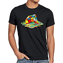 Cubo Mágico Camiseta vintage para hombre T-Shirt, Talla:XL;Color:Nero