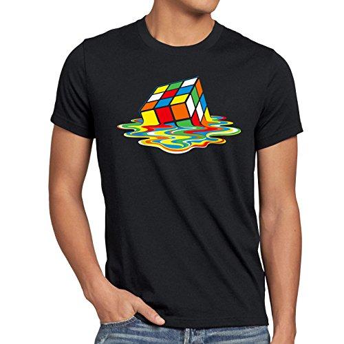 style3 Sheldon Cubo Mágico Camiseta para hombre T-Shirt, Talla:2XL;Color:Nero