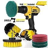 Swonuk Drill Brush, 3pcs Taladro Cepillos Accesorio 2' 3.5' 4' Power Scrubing Auto Cepillo para Coche, Alfombra, Cuarto de baño, Suelo de Madera, lavadero, Cocina (10 pcs)