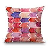 Artistdecor Geometric Throw Pillow Case 16 X 16 Inches / 40 By 40 Cm For Teens Girls,birthday,living Room,car,shop,sofa