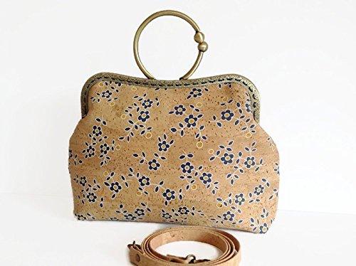 Cork Vegan Handbag Crossbody, Unique Purse for Women - handmade-bags