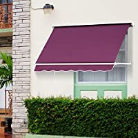Outsunny Store Banne Manuel Inclinaison Réglable Aluminium Polyester  Imperméabilisé 180L X 132l ...