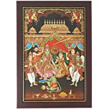 Lord Ram Pattabhishekam Photo Frame ( 34 Cm X 24 Cm X 1.5 Cm ) / Wall Hangings For Home Decor And Wall Decor / Photo Frames For Posters And Thanksgiving Wall Decorations / Rama Ram Hanuman Ramar Seetha Setha Art Work For Paintings And Wall Stickers / God