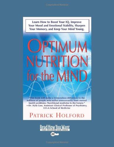 Optimum Nutrition for the Mind par Patrick Holford