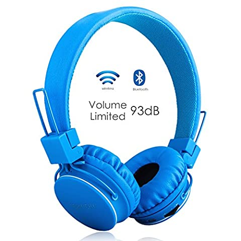 Volume Limited + Wireless Bluetooth Kids Headphones, Termichy wireless/wired Foldable