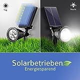 Mpow 2 Stücke 6 LED Solar Solarleuchten, Outdoor Wandleuchte, 6 LED Helle Garten-Licht, 2 Beleuchtungsmodi, Wasserdicht,Sicherheitsbeleuchtung, Großes Außenlicht für Garten
