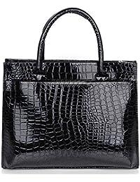 F9Q dame femme Crocodile Pattern PU cuir Hobo Handbag sac à main sac Cabas Totes les Besaces sacs à bandoulière