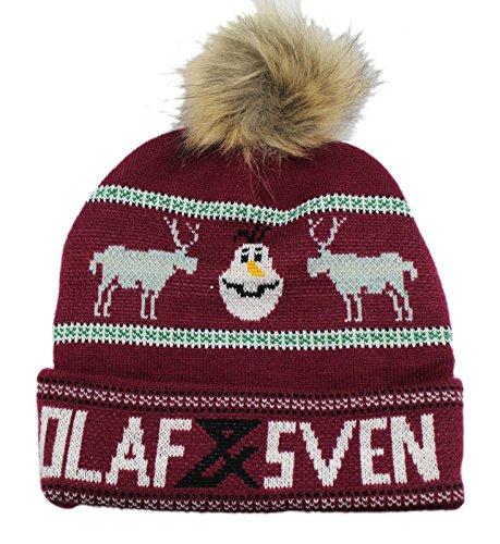 Disney Frozen Olaf and Sven Pom Beanie Hat