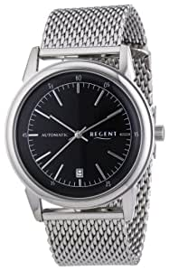 Regent Herren-Armbanduhr XL Analog Handaufzug Edelstahl 11050070
