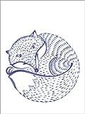 Posterlounge Alu Dibond 100 x 130 cm: Blauer Fuchs von Editors Choice