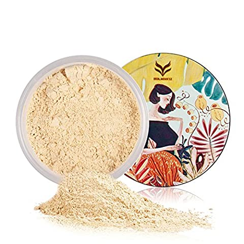 Translucent Loose Powder, Natural - KAYI Oil Control Silky Light Finish Powder, Prolong Makeup Wear, Conceal Pores Setting Powder - Art Designed Package, 5 Colors for Different Skin