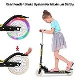 Bunao Cityroller Scooter Kinder Roller Tretroller Cityroller Kick Scooter klappbar mit LED Big Wheel Kugellager ABEC 7 für Mädchen Kinder ab 3 Jahre (Typ5)