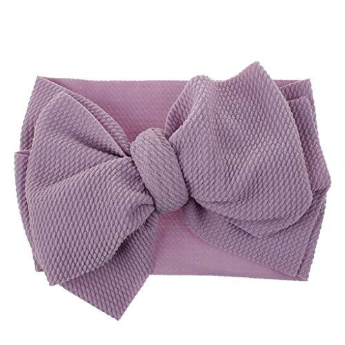 Lazzboy 1 Stück Baby Kleinkind Mädchen Bowknot Stirnband Stretch Haarband Headwear Süßes Kinder Kopfband Haarbänder Kopftuch(H)