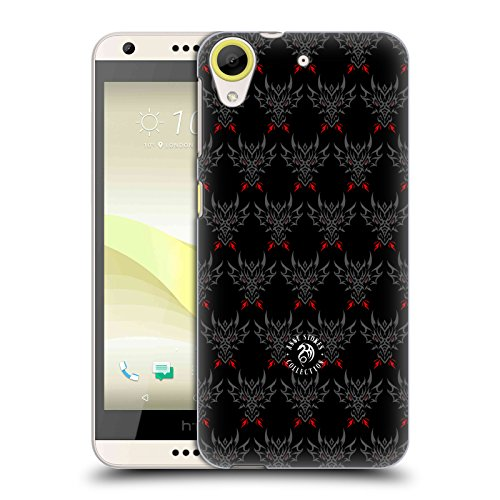 Official Anne Stokes Tribal Dragon Head Motif Patterns Hard Back Case for HTC Desire 650
