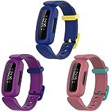 Bexido Compatibel met Fitbit Ace 3 Strap voor kinderen, zachte siliconen sportpolsband verstelbare accessoire armband vervang