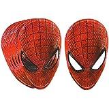 6 tlg. Set Papier Maske Spiderman Geburtstag Kindergeburtstag Geburtstagsdeko Spider Man Pappmasken