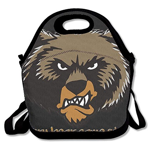 Grizzly Angry Bear Logo Lunch Bag Lunch Tote -