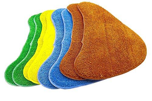 Confezione da 8. Panni in microfibra multicolori di ricambio per le scope a vapore Vax (alternativa a Tipo 1 Total Home)