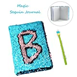 #1: Casemantra Sequin Notebook – 2 Color Mermaid Reversible Sequin Journal – Magic Travel Journal Notebook Gift for Adults and Kids (Pink-Blue)