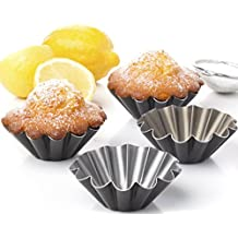 SET OF 4 UNITS Muffin Brioche mold Brownies pie cupckake egg tart pans by Maxi Nature
