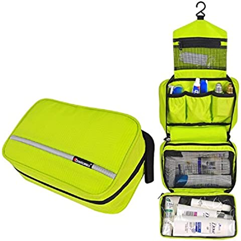 Pockettrip Hanging Toiletry Kit Clear Travel BAG Cosmetic Carry Case Toiletry (Green) by Pockettrip