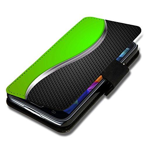 Book Style Flip Handy Tasche Case Schutz Hülle Schale Motiv Foto Etui für Wiko Ridge Fab 4G - X3 Design12
