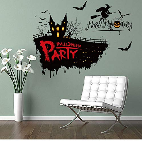 cary Hexe Wandaufkleber Halloween Thema Party Wanddekoration Aufkleber 50 * 70 Cm Festival Und Partei Liefert ()