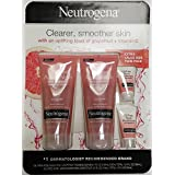 Neutrogena Oil-Free Acne Wash Pink Grapefruit Foaming Scrub 2pk, Plus 2 Sample-Size Oil-Free Acne Moisturizers