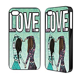 Love you're my BFF samsung s3 s4 iphone 4 5 5C 5S ipod 4,5 mini phone cover case (iPod 5)