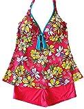 Sawadikaa Donne Modello Due Pezzi Costume Tankinis Costumi da Bagno Costumi interi Vestito di Bagno Rosa 40
