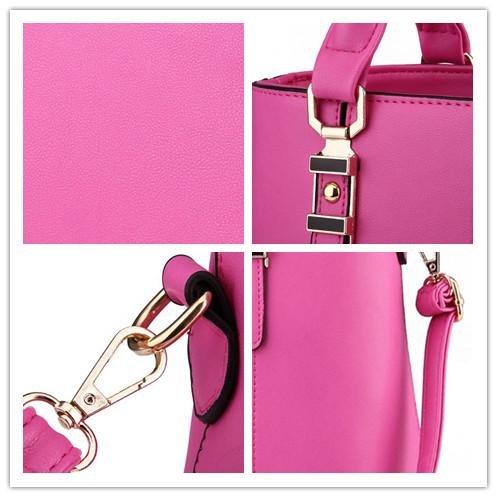 HQYSS Borse donna PU cuoio primavera modelli OL pendolari sezione verticale femminile cerniera tracolla Messenger Handbag , purple taro rose red