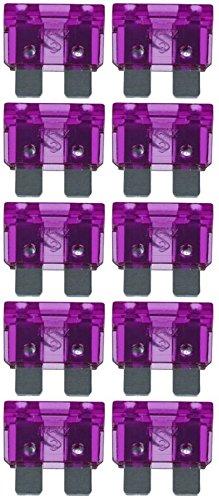 baytronic Standard Flachstecksicherung Kfz-Sicherung (10 Stück 3 A violett) 3 Sicherungen
