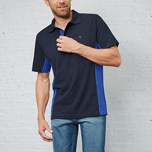 ... PIONIER WORKWEAR Herren Poloshirt-Piqué 2-farbig kurzarm in marineblau ( Art.- ...