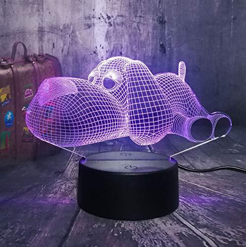 Guo Snoopy 3D Nachtlichter - Animal Night Lights - Puppy - Kreative Geschenke - Acrylmaterial - 3D Tischlampe - Beste Wahl Für Freunde - Mehrere Farben Können Ihre Schönheit Aufhellen -