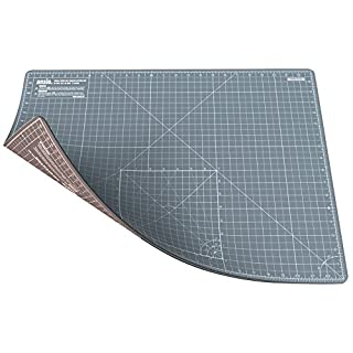 ANSIO A2 Doppelseitige Selbstheilung 5 Schichten Schneidematte Imperial / Metric 22.5 Zoll x 17 Zoll / 59 cm x 44 cm - Grau / Braun