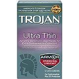 Trojan Condom Sensitivity Ultra Thin Spermicidal, 12 Count by Trojan