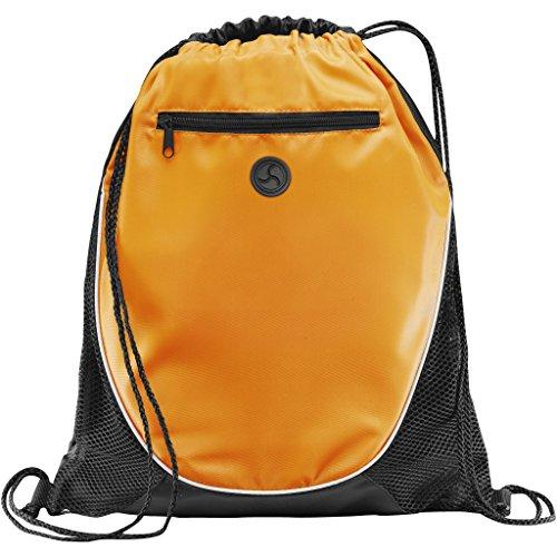 BULLET - Sac à cordon THE PEEK (Lot de 2) (35,5 x 43,1 cm) (Orange)