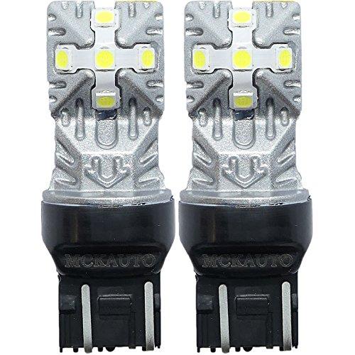 MCK auto T207443W21/5W luci LED bianco lampadine Canbus luci di marcia diurna retromarcia