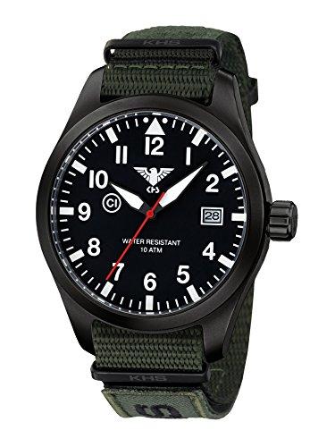 KHS Reloj Hombre Airleader Black Steel KHS.AIRBS.NXTO1