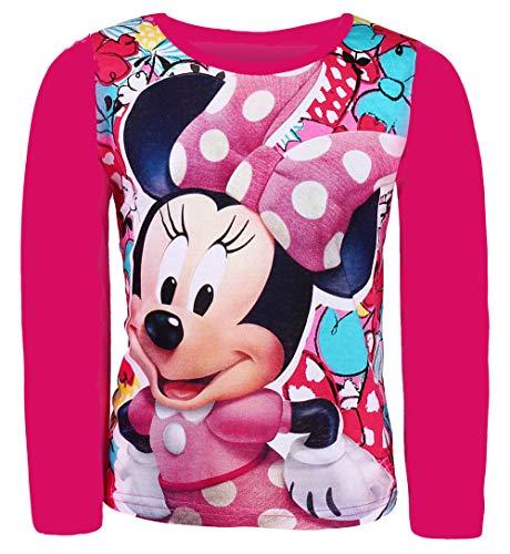Disney minnie mouse a maniche lunghe fucsia 8 anni