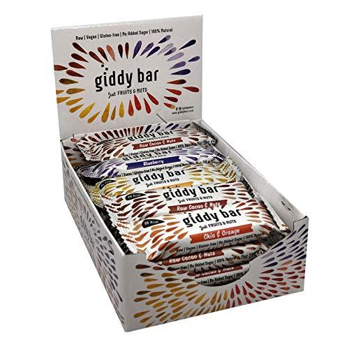 Giddy Bar Snack Riegel - Just Fruits & Nuts Glutenfrei Vegan & Raw (Sparpaket 20 Riegel) -